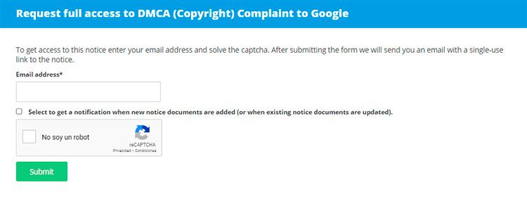 Complain to Google