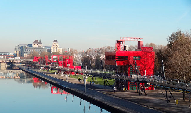 Follies, Parc de la Villette, Paris.